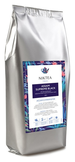 Чай Niktea Assam Supreme Black черн.байховый, 250г Niktea