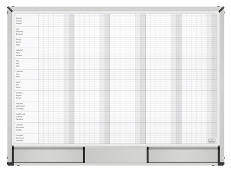 Доска магнитно-маркерная 2х3 Starboard 60х90 планер год,керамич.,tps002n  2x3