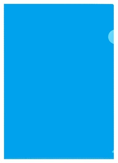 Папка уголок 180 мкмэлементари, синий 10шт/уп россия  Attache