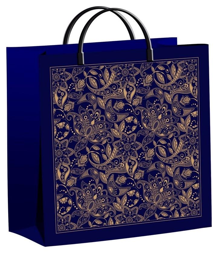 Пакет подарочный пластиковый подарочный узор 30х30см арт.  Тикопластик