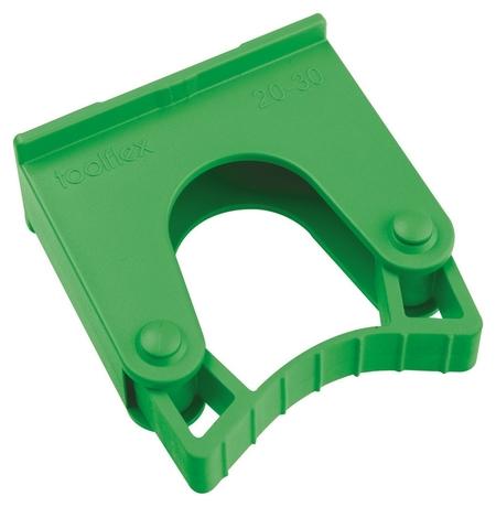 Зажим для щеток и рукояток, диаметр 20 - 30мм Hold 1 G зеленый  Hillbrush