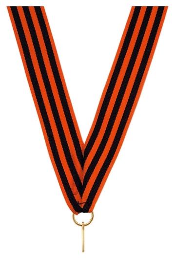 Лента для медалей 24 мм цвет георгиевская Ln14  NNB