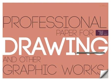 Бумага для рисунка и графики а2,10л,блок 160гр, в папке 4-129  Bruno Visconti