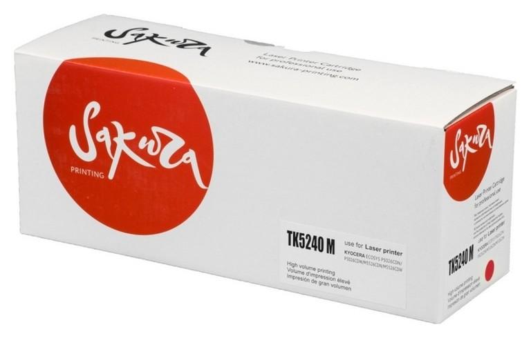 Тонер-картридж Sakura Tk-5240m пурп. для Kyocera Ecosys M5526  Sakura