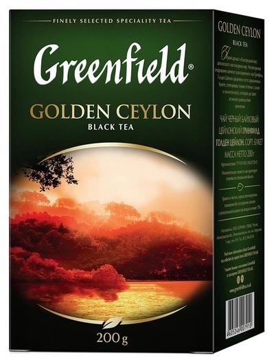 Чай Greenfield Golden Ceylon листовой черный, 200г 0791-10  Greenfield