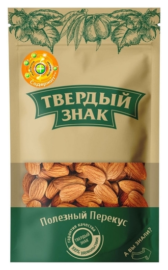 Орехи миндаль очищенный твердый знак (Ядра орехов миндаля сладкого), 150г  Твердый знак