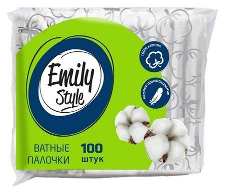 Палочки ватные Emily Style ватные палочки пакет 100шт/уп  Emily Style