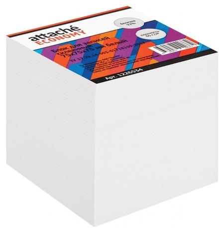 Блок для записей Attache Economy проклеенный 7,5х7,5х7,5, белый, 65 г, 92  Attache