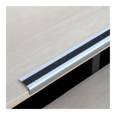 Профиль противоскользящий алюм угол для ступени 52х27х1000мм чер (Atm1sf2)  Mehlhose