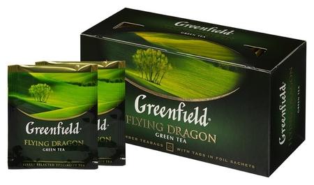 Чай Greenfield Flying Dragon зеленый фольгир.25пак/уп 0358-15  Greenfield