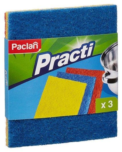 Губки абразивная набор разной жесткости 3 штуки для сильных загрязнений Pacl  Paclan