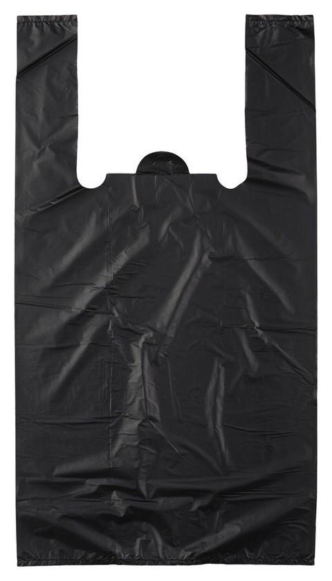 Пакет-майка усиленный,пнд, 30+18x56см,черный,28мкм,100шт/уп  Знак качества