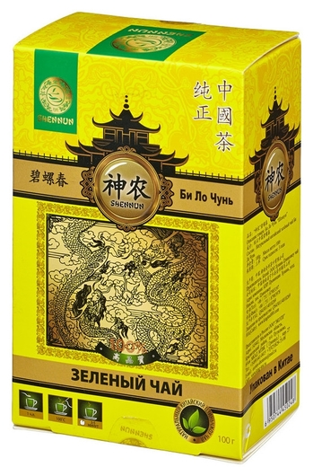Чай Shennun билочунь зеленый, спираль, 100 г. 13065  Shennun