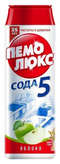 Универсальное чистящее средство пемолюкс сода 5 порошок 0.48 кг яблоко  Пемолюкс
