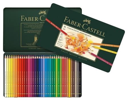 Карандаши цветные 36цв Faber-castell Polychromos мет короб 110036  Faber-castell