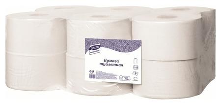 Бумага туалетная для дисп Luscan Professional 1слбелвторвтул200м 12рул/уп  Luscan