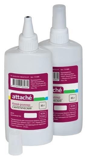 Клей канцелярский Attache 85 мл, синтетический, металлический роллер  Attache