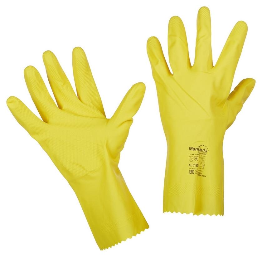Перчатки защитные латекс Manipula блеск (L-f-01) р.8-8,5 (М)  Manipula