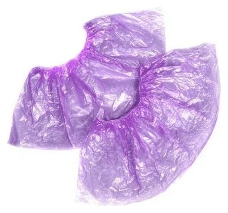 Бахилы н/с, п/э стандарт 2,8г фиолетовый 50 пар/уп NNB