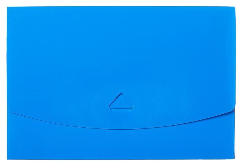 Папка короб Attache А5 на клапане, синяя  Attache