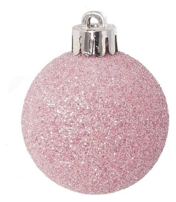 Украшение новогоднее Шар (Набор из 12 шт) (розовый), D 4см 722881  NNB