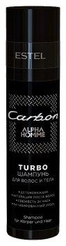 """Turbo-шампунь для волос и тела """"Alpha homme carbon"""""""