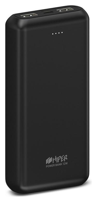 Внешний аккумулятор 20000 Mah, 2xusb+c, Hiper Psl20000 Black  Hiper