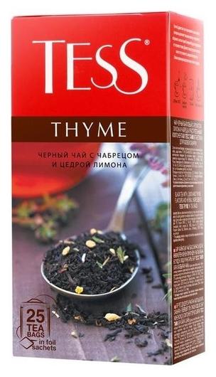 Чай Tess тайм черный, 25пак 1131-10  Tess