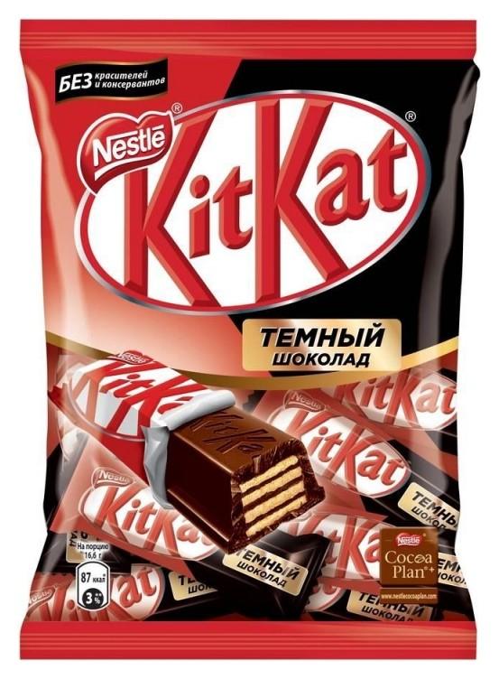 Шоколадный батончик Kitkat Dark Mini, 169г  Kit Kat