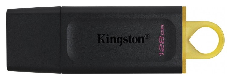 Флеш-память Kingston Datatraveler Exodia, USB 3.2 G1, жел/чер, Dtx/128gb  Kingston