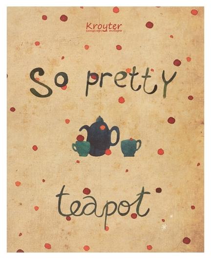 Тетрадь общая Kroyter а5,48л,клетка,скрепка Teapot арт.06395  Kroyter