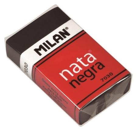 Ластик пластиковый Milan 7030, мягкий, черный, в карт.держателе  Milan