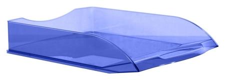 Лоток для бумаг Attache Office прозрачный голубой  Attache