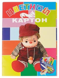 Картон цветной 8л,8цв,а4,куклы,м 2058/8  NNB
