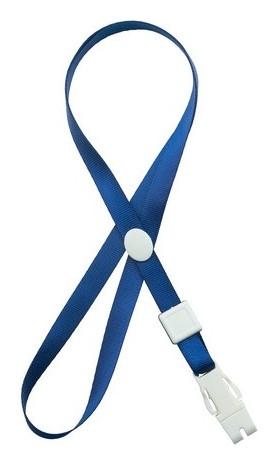 Держатель для бейджа C пластиковым замком синий Attache K-1022  Attache