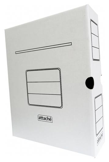 Короб архивный белый Attache 75мм гофрокартон, 5шт.уп  Attache