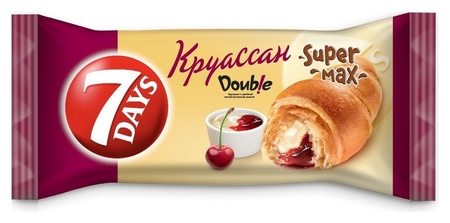 Круасcаны 7 Days с двойной начинкой ваниль-вишня, 110г  7 DAYS