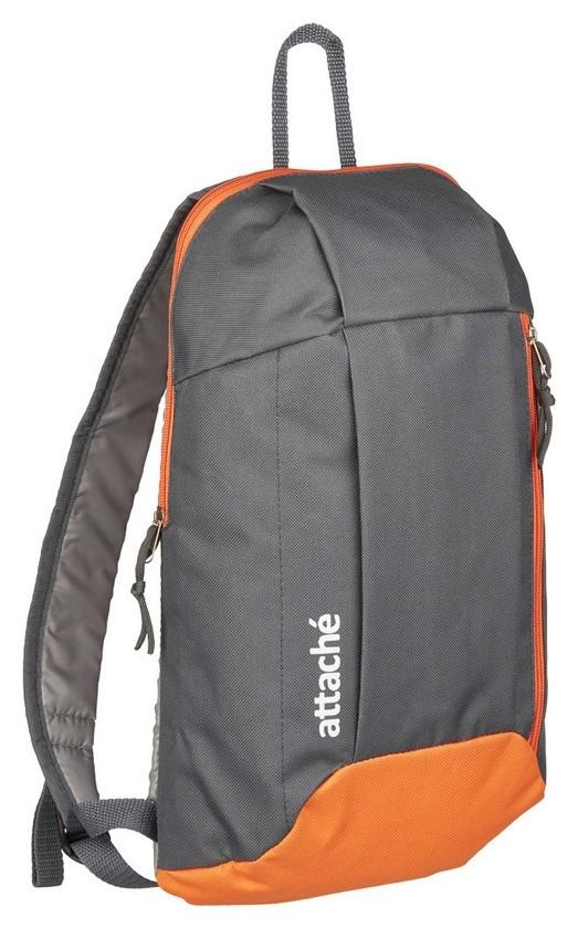 Рюкзак спортивный Attache серый-оранжевый  Attache