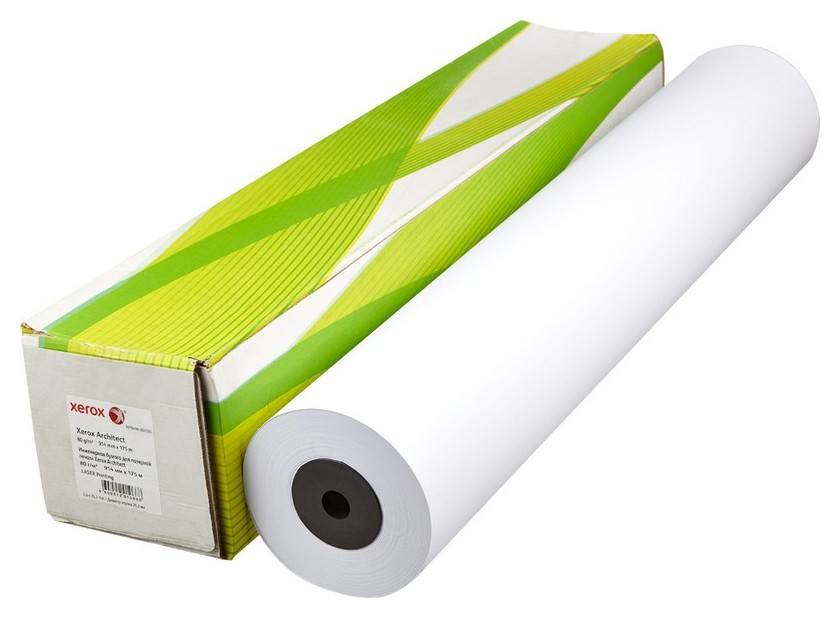 Бумага широкоформатная Xerox Architect 80г 914ммх175м 76мм  Xerox