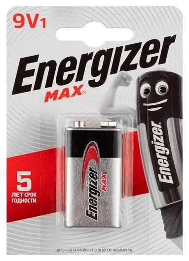 Батарейки Energizer Max крона 9v/522 бл/1шт  Energizer