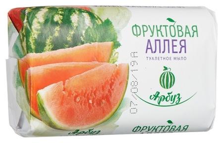 Мыло туалетное 90 г фруктовая аллея арбуз  Nefis Cosmetic
