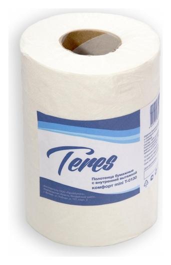 Полотенца бумажные для держ.терес комфорт мини ЦВ 1сл.120м 12рул т-0130  Терес