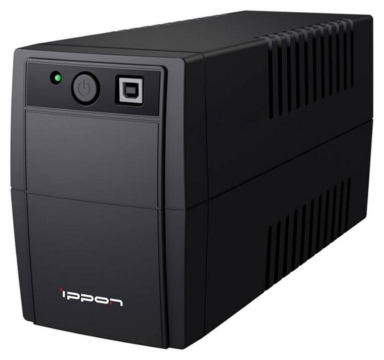 ИБП Ippon Back Basic 650 650va 360вт Euro(2) черный  Ippon