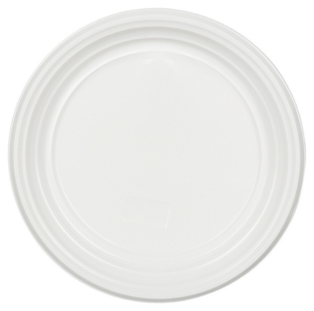 Тарелка одноразовая D 205мм, белая, ПП 100шт/уп  Комус