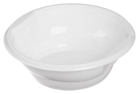 Миска одноразовая пластик.комус для хол./гор., 0,6л, белая, ПП, 50 ш  Комус