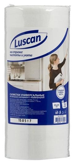 Салфетки хозяйственные Luscan универсальные в рулоне 22х23см 40 г/м2 70шт  Luscan