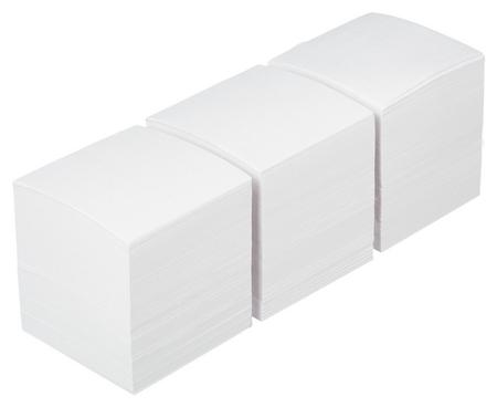 Блок-кубик Attache запасной 9х9х9 белый блок, 3штуки/спайка  Attache