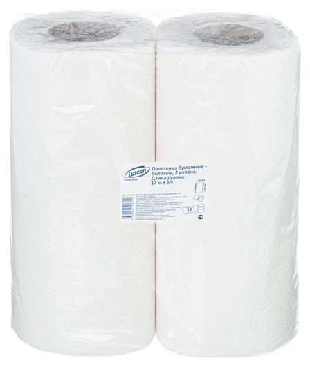 Полотенца бумажные Luscan Economy 2-сл.,целлюлоза с тиснением, 2рул./уп  Luscan