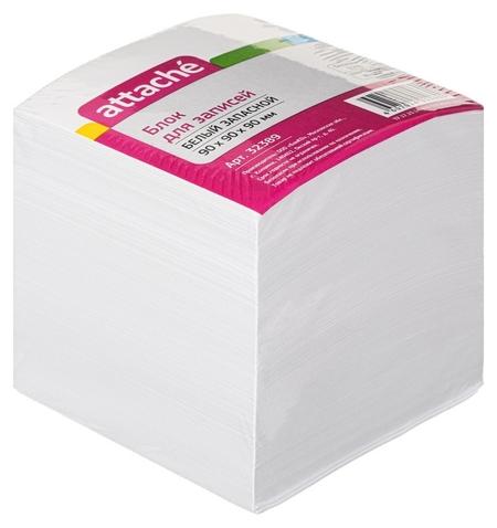 Блок-кубик Attache запасной 9х9х9 белый блок 80 г, 92%  Attache