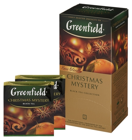 Чай гринфилд кристмас мистери(1,5гх25п)чай пак.черн.с доб. Greenfield